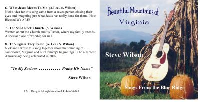 Booklet Front and Back Cover Beautiful Mt. of VA