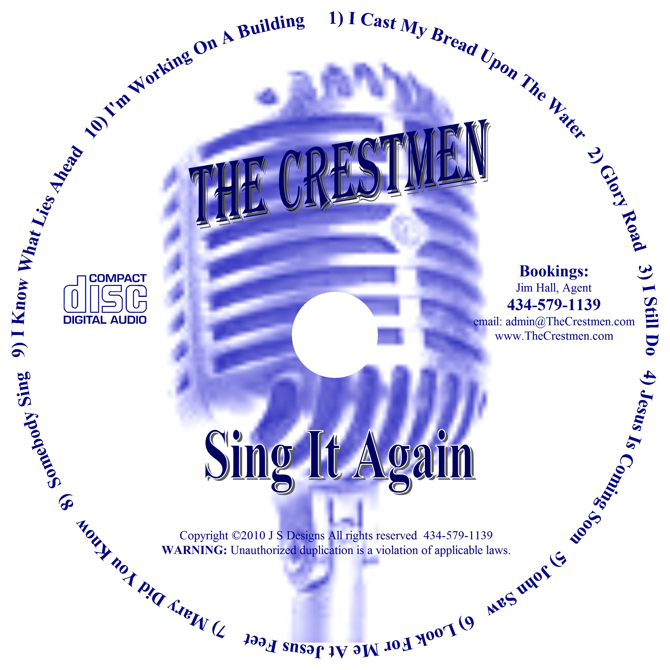 CD Design for Sing It Again 2