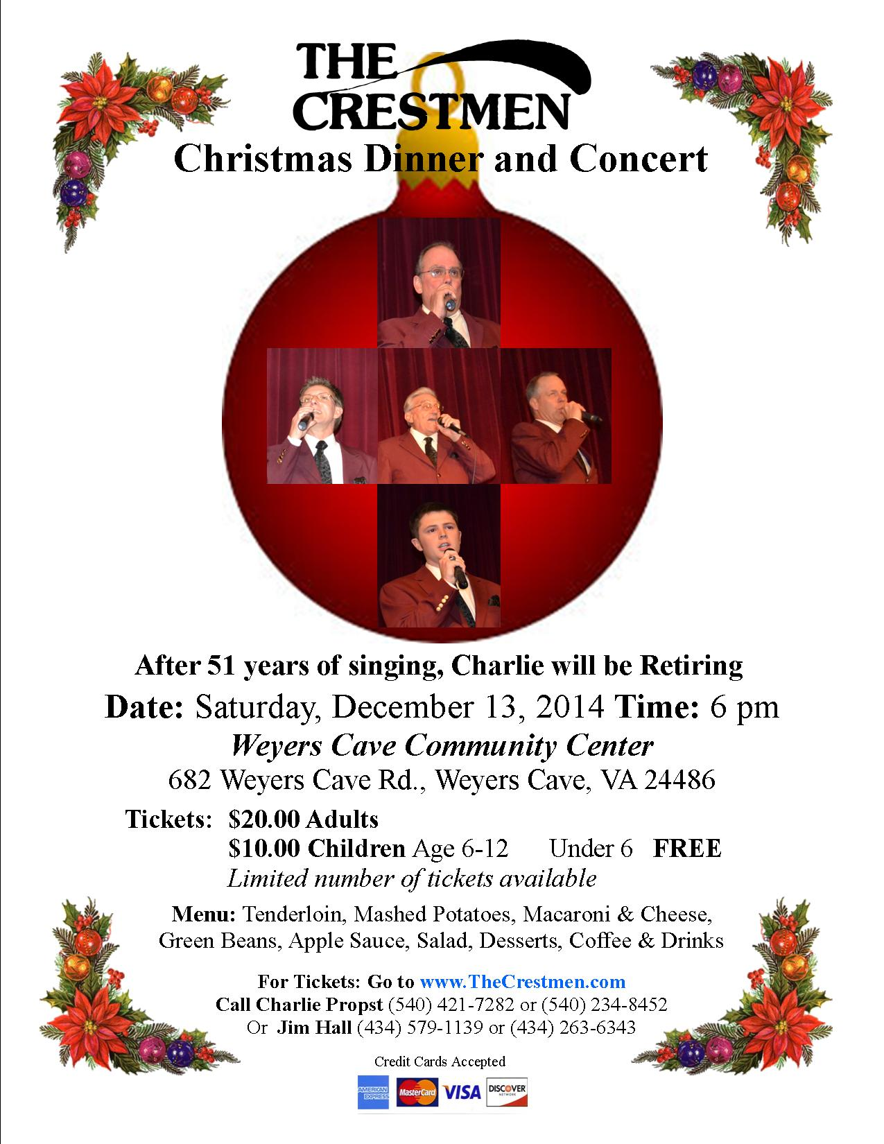 Christmas Dinner and Concert Flyer 2014 1
