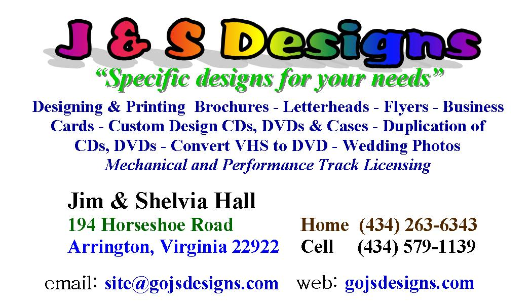 GO JS Designs Business Cards