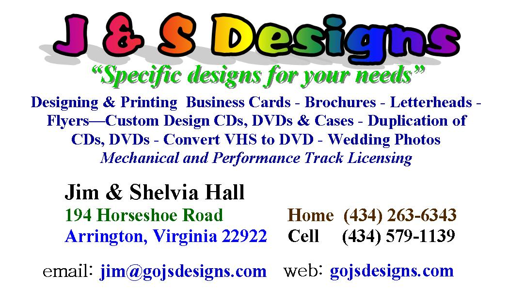 GO JS Designs Business Cards jim