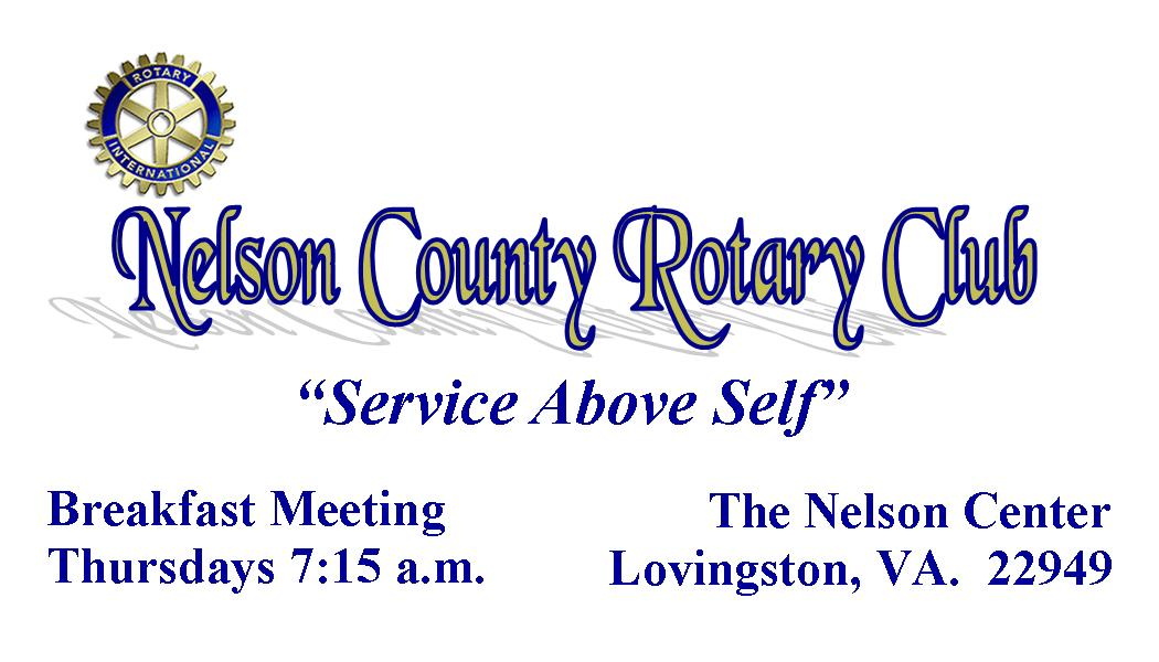 Nelson County Rotary Club Business Card Pic